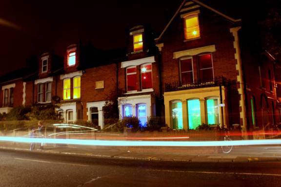 Artist Susie Olczak encouraged residents to install coloured lighting in theiir homes for the event.